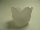 Tulip Candleholder matt-clear glass SOLD OUT