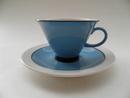 Harlekin turquoise Espresso Cup and Saucer Arabia