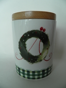 Christmas Wreath Jar Arabia