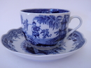 Singapore Tea Cup and Saucer blue Arabia